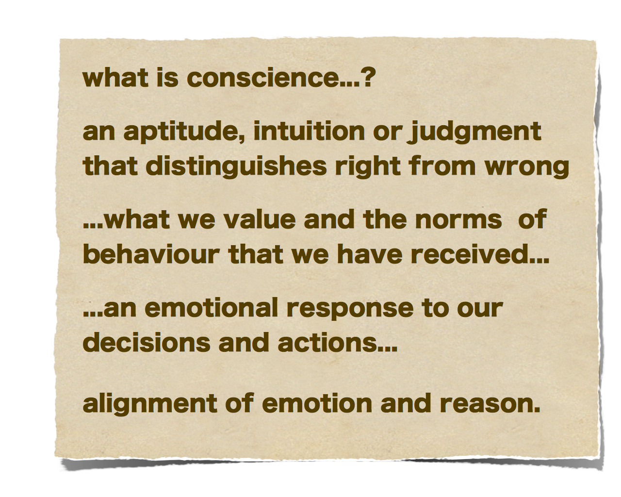What is conscience